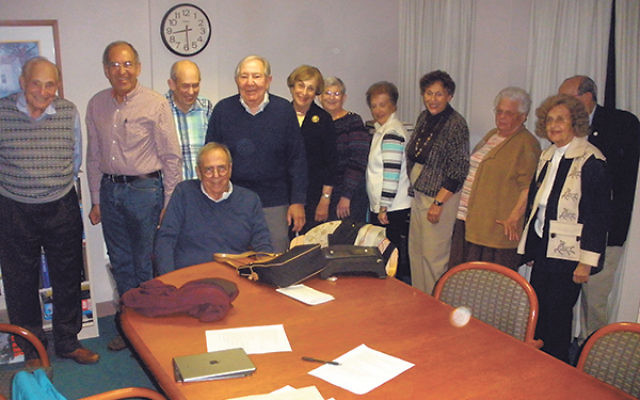 Former Trenton residents gather at a meeting of the revived Trenton Jewish Historical Society.