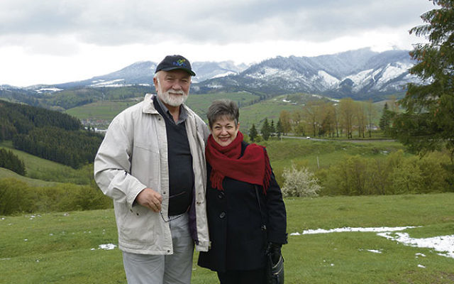 Bella Scharf Zelingher and her husband, Simon, journey through the snow-capped Carpathian Mountains on their way to the remote village of Kolachava.