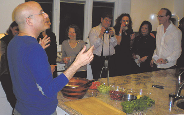 """Tabouleh should be """"an extravaganza of delight,"""" Israeli culinary star Gil Hovav told guests at the World JewishHeritage event in Livingston on Jan. 12."""