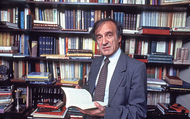 Elie Wiesel, the author of over 50 books, in the study of his New York City home, Oct. 14, 1986.