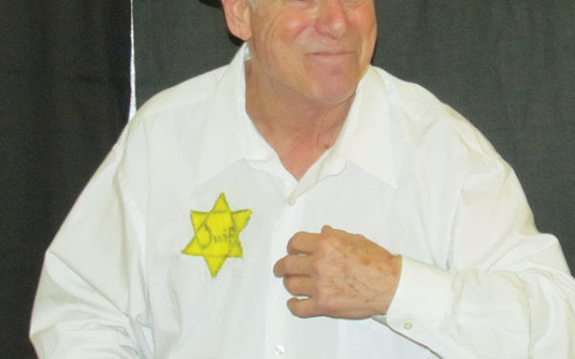 Harlan Tuckman, who will play Nazi hunter Simon Wiesenthal at the Jewish Heritage Museum of Monmouth County, is seen here portraying Raphael Schachter in When Words Fail, Music Speaks: A Holocaust Narrative. The photo was taken in April at Manhat