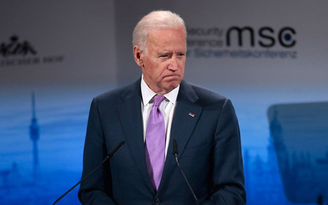Vice President Joe Biden, shown speaking at a security conference in Germany on Feb. 7, 2014, announced that he would not attend Prime Minister Benjamin Netanyahu's March 3 address to Congress. (Johannes Simon/Getty Images)