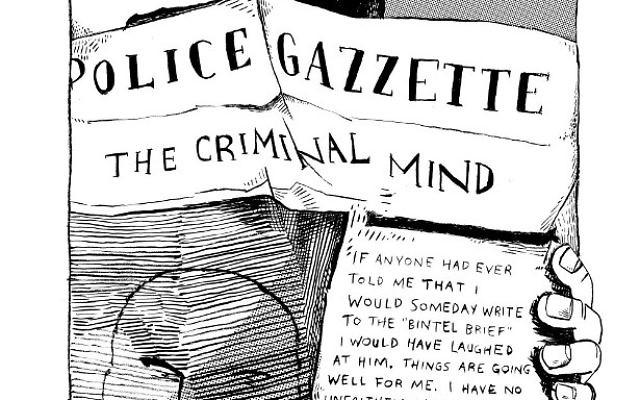 "A page from ""A Bintel Brief"" by Liana Finck (Ecco)"