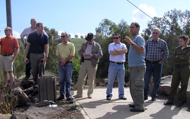 Members of a Central federation Builders' mission visit Caesarea in the spring of 2008.