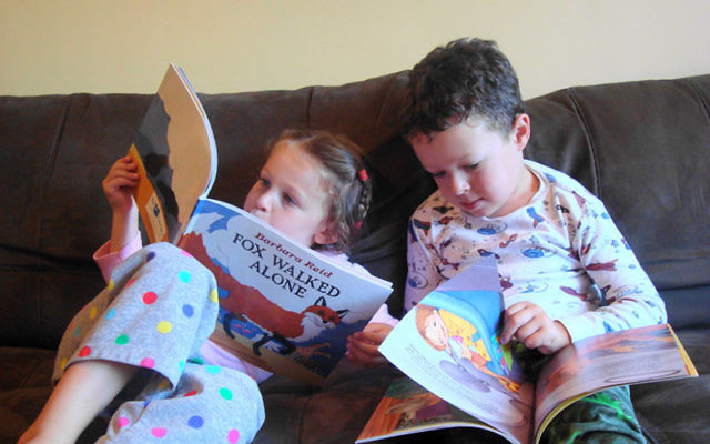 Zoe and Ethan Weinberg are two of over 440 local children who enjoy the monthly gifts of Jewish books and music from the PJ Library, a program sponsored by the Central federation and the Harold Grinspoon Foundation.