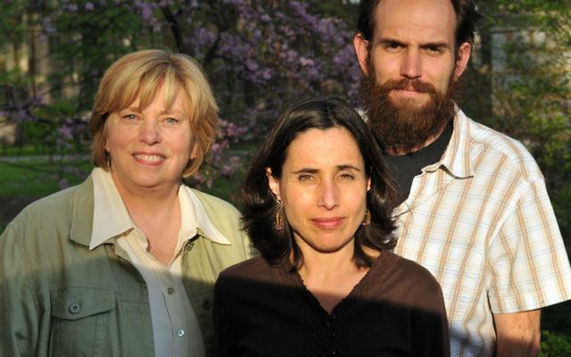 Judy Maltz, center, with her fellow filmmakers, Barbara Bird, and Richie Sherman. Photo courtesy Judy Maltz