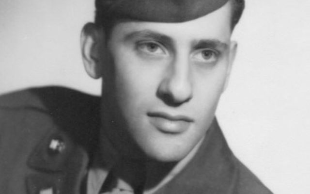 Dr. Maurice Meyers, who has just received the French Legion of Honor, as a young serviceman in World War II.