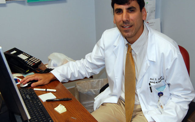 Dr. Ari Eckman has been appointed head of the division of endocrinology, diabetes, and metabolism at Trinitas Regional Medical Center in Elizabeth. Photo by Elaine Durbach
