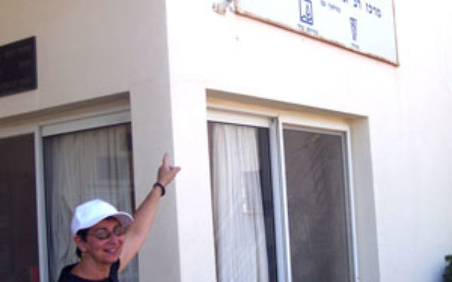 Anita Kolat, during two weeks of service, volunteered one morning at an adult day-care center in Arad.