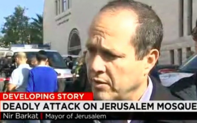 """A CNN screen graphic refers to a Jerusalem synagogue, the site of a deadly terrorist attack, as a """"mosque."""""""