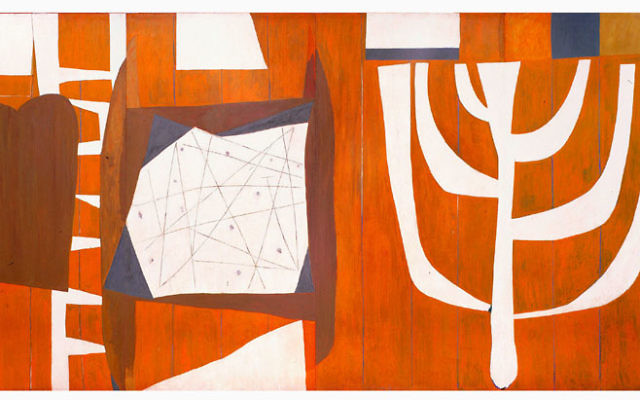 Robert Motherwell, The Walls of the Temple, 1952, oil on Masonite. Collection of Congregation B'nai Israel, Millburn, New Jersey. Art © Dedalus Foundation, Inc./Licensed by VAGA, New York, NY