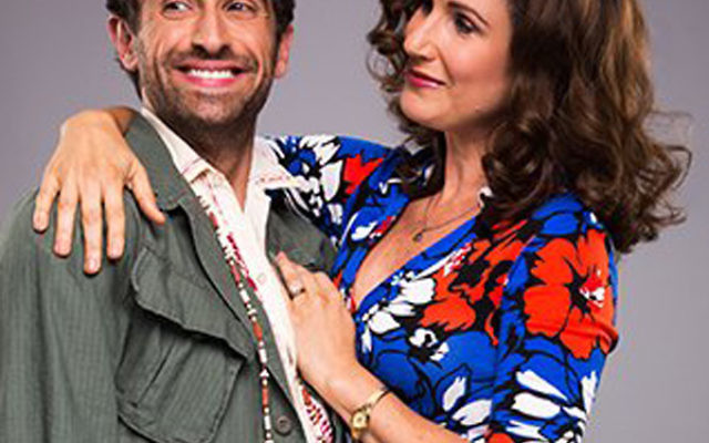 West Orange native Brandon Uranowitz, here with co-star Stephanie J. Block, plays Mendel, a psychiatrist in the revival of the musical Falsettos.