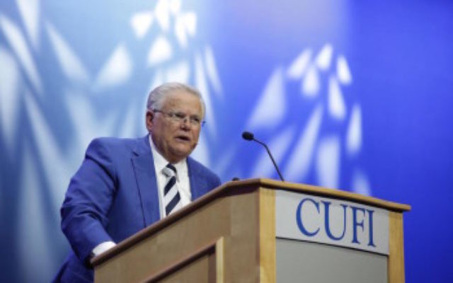 Pastor John Hagee, CUFI's founder, seen in Washington, D.C., July 13-14, 2015, warned politicians in The Washington Post this week to heed his group's 2.2. million Christian Zionist members. (Courtesy: CUFI)