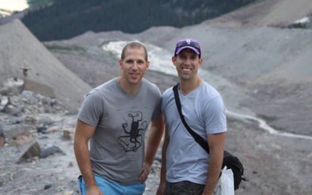 Danny Cole and Mendy Losh were hiking together in Nepal during the massive earthquake. (JTA).