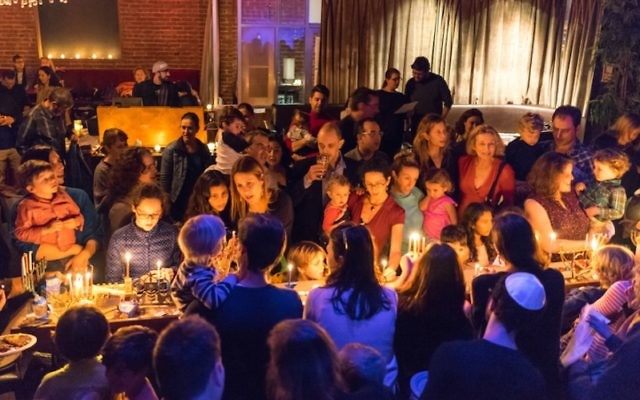 The Kitchen in San Francisco holding a Hanukkah celebration, Dec. 9, 2015. (Q Lam)