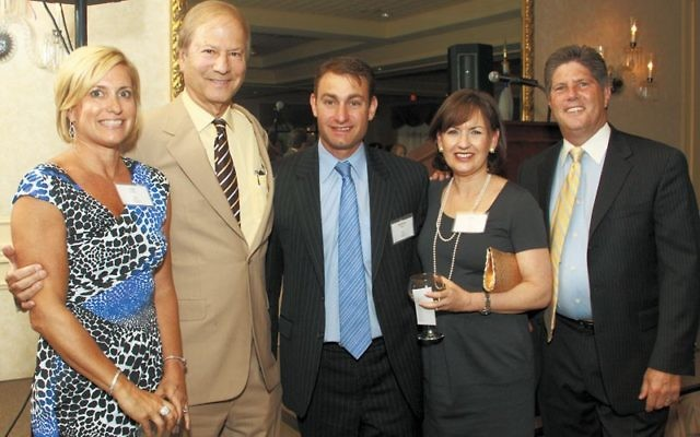 Lewish Katz, second from left, delivered the keynote address at a 2012 gala raising funds for a planned Jewish Community Campus in West Windsor, near Princeton.
