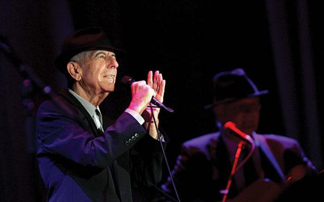 Leonard Cohen in concert at London's O2 Arena in 2013.