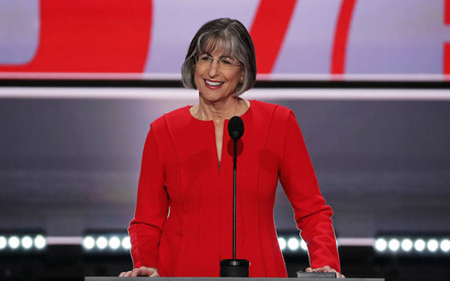 Former Gov. Linda Lingle (R-HI) speaking during the first day of the Republican National Convention at the Quicken Loans Arena in Cleveland, Ohio, July 18, 2016. (Alex Wong/Getty Images)