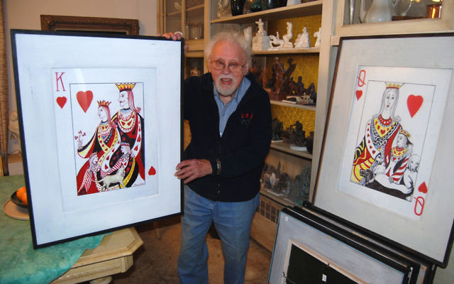 In his latest project, 95-year-old painter and sculptor George Tarr explores the imagery of playing cards, producing works currently on display at the Union Public Library art gallery.