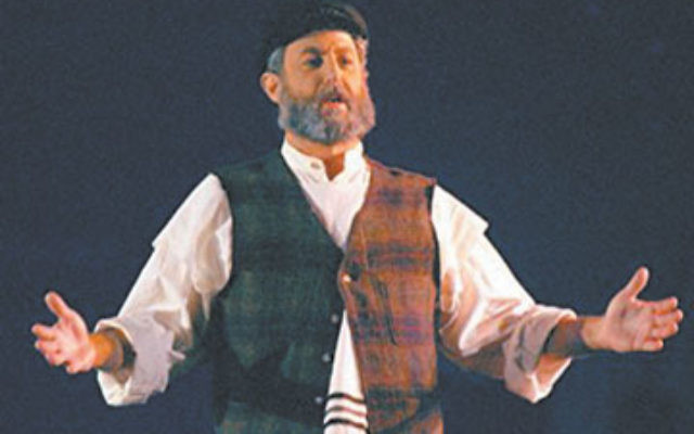 Stewart Schneck played Tevye in Fiddler on the Roof at Congregation Agudath Israel in Caldwell.