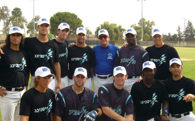 Aaron Pribble (top row, second from left) wrote about his experiences in the Israel baseball League in Pitching in the Promised Land. Photo courtesy Aaron Pribble