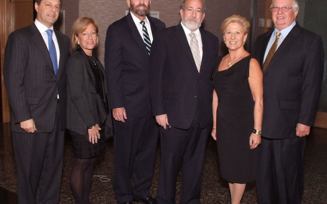 At Jewish Federation of Monmouth County's Nov. 18 campaign kickoff at Congregation Magen David are, from left, Major Gifts cochair Joseph Hollander, Barbara Hollander, federation president Stuart Abraham, Rabbi Joseph Telushkin, Major Gifts cochai