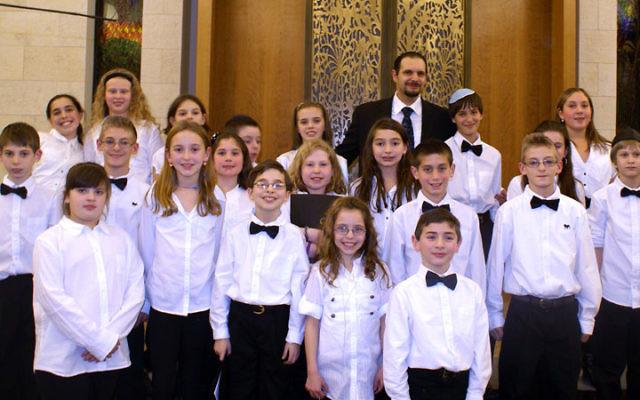 Members of Ahavat Olam's Shirron Junior Choir perform.