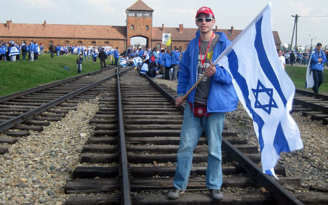 Traveling with the March of the Living, Manalapan teen Cory Bolotsky went to Auschwitz Birkenau.