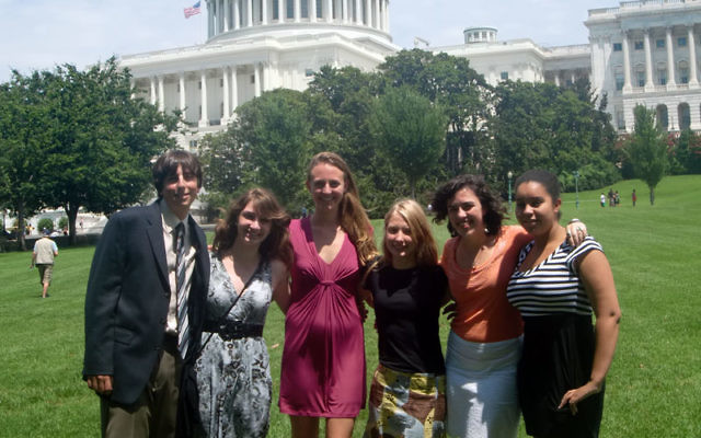 Dori, far right, with UMC participants visiting Washington, DC.
