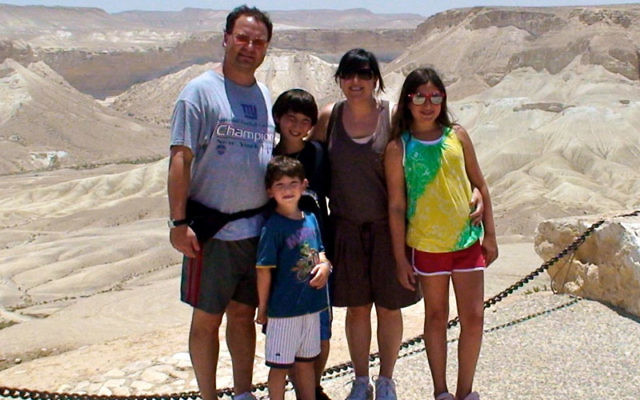 Dan Ramer and his family visit the Machtesh Gadol — the Large Crater — in the Negev.