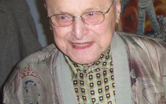 The late Jerry Ben-Asher, seen here at his 90th birthday celebration in 2006, has inspired local music lovers to help a teacher in Israel by collecting money for violins and other instruments.