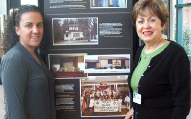 """Dana Lichtenberg, United Jewish Communities of MetroWest NJ Morris County outreach director, left, and Linda Forgosh, Jewish Historical Society of MetroWest executive director and curator, hope putting the """"Ladies First"""" will draw more Jewish"""