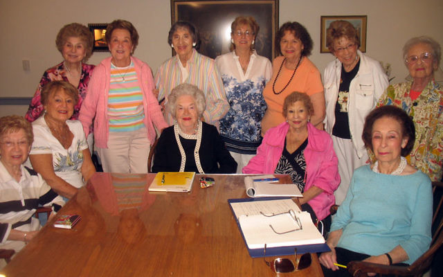 Board members of the Maplewood-South Orange chapter of Jewish Women's International, which will hold its 65th anniversary luncheon on June 16, are, from left, seated, Muriel Morse, Geri Zemel, Ann German, Rita Peretz, Adele Schenkman, and standing
