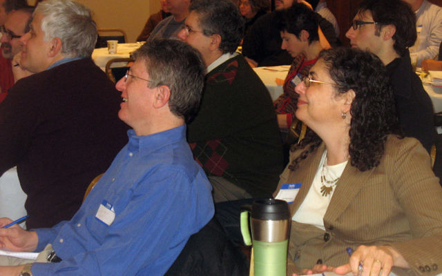 About 50 people came to a job workshop at Oheb Shalom Congregation in South Orange on Jan. 7, sponsored by the Jewish Vocational Service of MetroWest New Jersey.