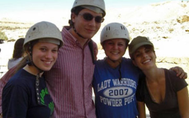 Jared Laxer of North Caldwell with friends on a tiyul in the desert as part of the Young Judaea Year Course in Israel.