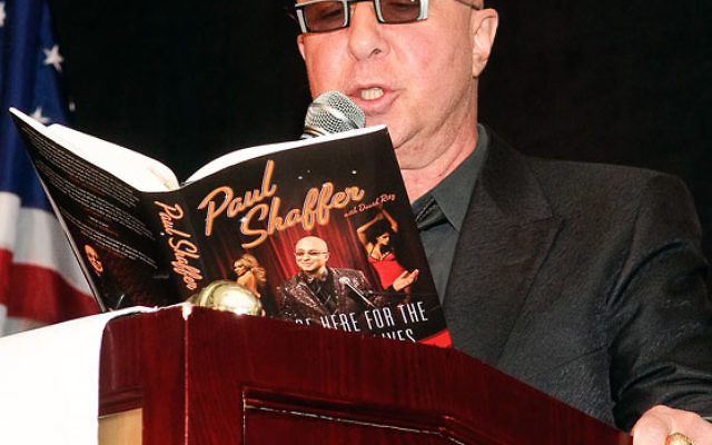 Paul Shaffer reads from his memoir about growing up in an Orthodox synagogue in Ontario at UJA MetroWest's MetroMagic Feb. 4.