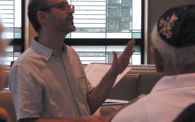 "Rabbi Elliott Tepperman, religious leader of Bnai Keshet, led a one-day ""mediation retreat"" on Aug. 22. Photos by Ron Kaplan"