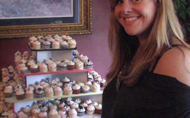 Lori Kutner Levenson of White Meadow Lake, owner of Sugar Mommy Cupcakes in Denville, competed in a recent episode of the Food Network's Cupcake Wars. Photo by Dana Galloway