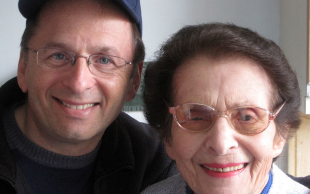 Mark Goldberg with his long-lost cousin Anat, a Holocaust survivor, shortly after their reunion in London last December. Photos courtesy Mark Goldberg