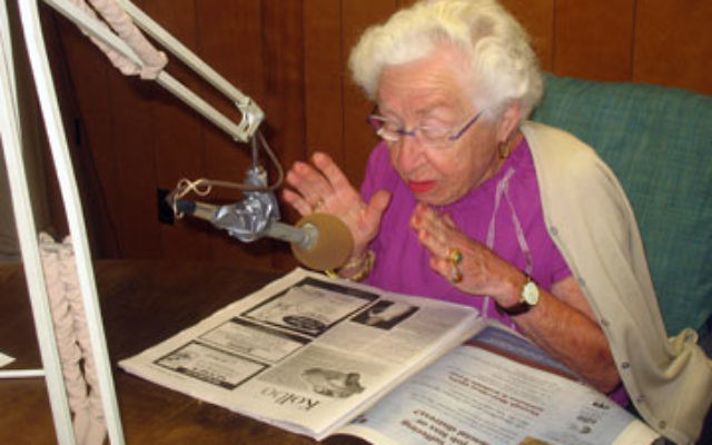 Ethel Rosenfeld, 96, of Maplewood, has been reading New Jersey Jewish News for the clients of EIES of New Jersey for at least 18 years.