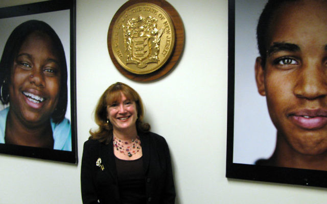 Janet Rosenzweig, acting commissioner of New Jersey's Department of Children and Families, in her office in Trenton Photo by Robert Wiener