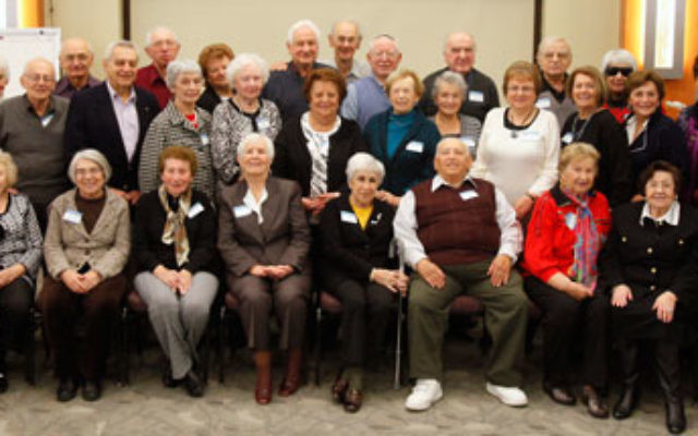 Local survivors who attended the Nov. 14 event announcing the expansion and relocation of the Holocaust, Genocide & Human Rights Education Center at Brookdale Community College in Lincroft. Photo by Robert Sclarrino