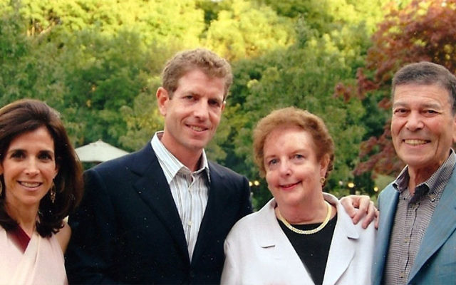 Daniel Och and his wife Jane, left, have made a $15 million challenge gift from their family foundation in honor of his late mother, Golda, seen here with them and his father, Dr. Michael Och. Golda Och passed away in January.