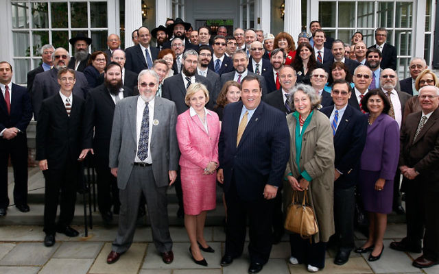Gov. Chris Christie welcomed a group of around 50 leaders of the Jewish community to Drumthwacket to mark the start of Jewish Heritage Month. Photo courtesy Governor's Office
