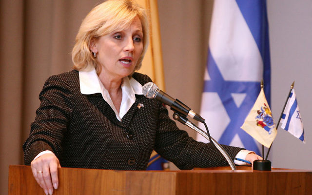 Lt. Gov. Kim Guadagno addresses the New Jersey-Israel Commission March 21 in Trenton. Photo courtesy Governor's Office/Tim Larsen