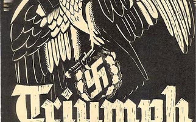 Poster for the 1934 Nazi propaganda film Triumph of the Will.