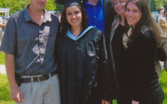 Sherry Kestenbaum and family members at her recent graduation from Kean University in Union.