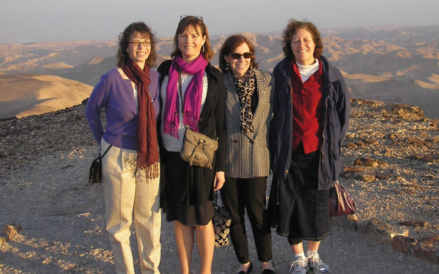 In Israel recently to share expertise with colleagues from Ben-Gurion University are, from left, Dr. Patricia Findley and her social work research assistants, Kathleen Ray, Melanie Lester, and Rivka Weiner, who traveled from Rutgers University as part of