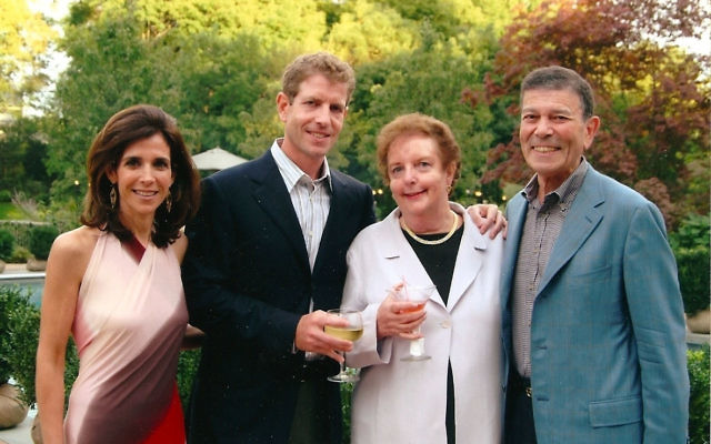 In 2008, Golda Och with her husband, Michael, and their son and daughter-in-law, Daniel and Jane Och