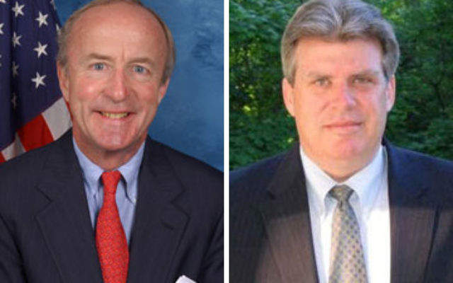 Left, Rep. Rodney P. Frelinghuysen (R) is serving his eighth term. Right, attorney Douglas Herbert (D) lives in Chatham.